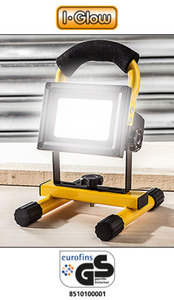 I-Glow LED-Lithium-Ionen-Akku-Strahler 10 Watt
