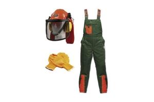 Schnittschutz-Set Größe 48 best. aus Hose, Helm, Handschuh