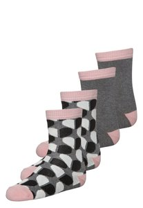 Melton HEART REFECTION 4 PACK Socken grey