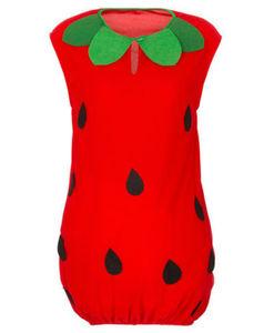 Karnevalskostüm - Erdbeere - 2-tlg. Set