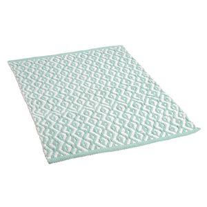 Teppich, mintgrün, ca B:60 x L:90 cm, 100% Baumwolle