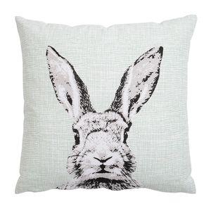 Kissen Rabbit, mintgrün, ca B:45 x L:45 cm, Kissenhülle: 100% Baumwolle