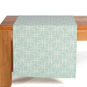 Tischläufer Grafik, mintgrün, ca B:40 x L:150 cm, 100% Baumwolle