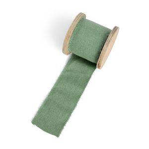 Band Leinen, grün, ca B:5 x L:300 cm