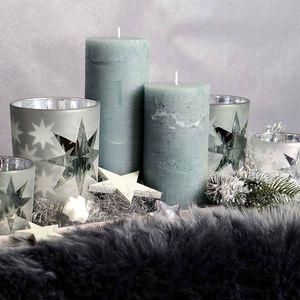 Kerze Rustic, mintgrün, ca D:7,5 x H:15 cm