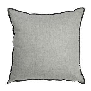 Kissen, grau, ca B:43 x L:43 cm, Bezug: 40% Baumwolle, 30% Leinen, 30% Polyester