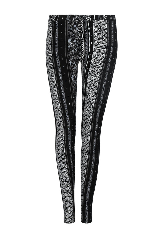 ebe4a665f5c8e5 Schwarz-weiße Leggings mit Print von Tally Weijl ansehen! » DISCOUNTO.de