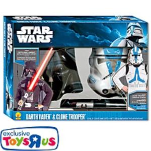Rubies - Star Wars Darth Vader & Clone Trooper Kostümset, One Size