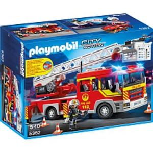 PLAYMOBIL - Feuerwehr-Leiterfahrzeug mit Licht - 5362