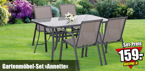 gartenm bel set annette von b1 discount ansehen. Black Bedroom Furniture Sets. Home Design Ideas