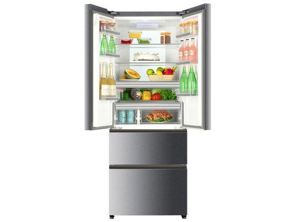 Kühlschrank Gefrierschrank Kombination : Haier kühl gefrier kombination french door b fe cmj von lidl