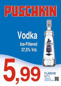 Puschkin VodkaIce-Filtered37,5% Vol.