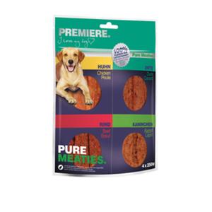 PREMIERE Best Pure Meaties Snack XXL 4x250g Vorteilspack