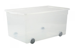 Rotho Rollbox Clear  63 l, transparent