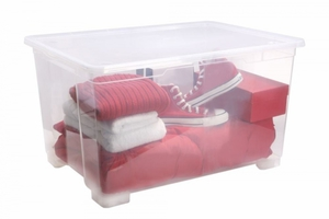Rotho Rollbox Clear  140 l, transparent