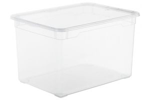 Rotho Aufbewahrungsbox Clear  46 l, transparent