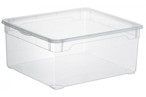 Rotho Aufbewahrungsbox Clear 18 l, transparent
