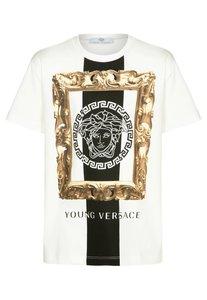Young Versace TShirt print bianco/nero/oro