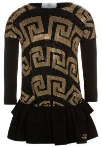 Young Versace Jerseykleid nero/oro