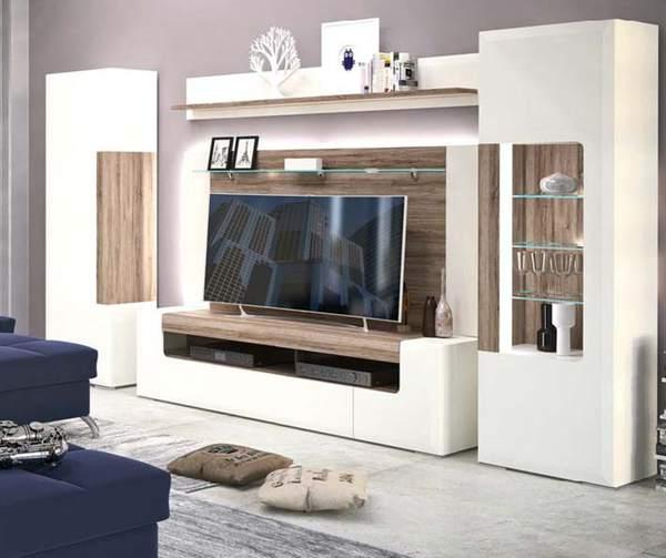 vitrine alpinwei hochglanz san remo rustic nachbildung. Black Bedroom Furniture Sets. Home Design Ideas