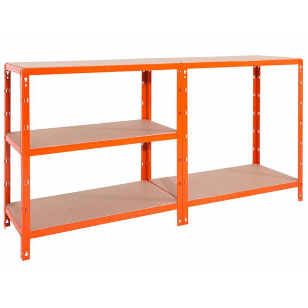 metall steckregal orange 180 cm x 90 cm x 40 cm von obi. Black Bedroom Furniture Sets. Home Design Ideas