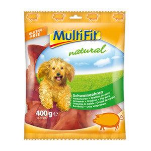 MultiFit Natural Schweineohren 400g