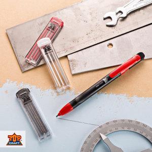 TOP CRAFT® Handwerker-Druckbleistift/Ersatzminen