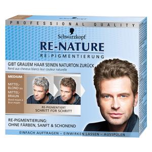 Schwarzkopf RE-NATURE              Re-Pigmentierung für Männerhaar medium