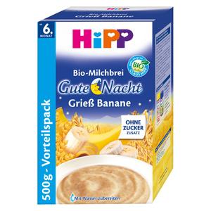 """HiPP              Bio-Milchbrei Gute Nacht """"Grieß Banane"""" Vorratspack"""