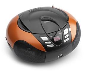 LENCO Boombox SCD-37 MP3 schwarz/orange