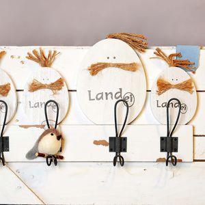 Dekoobjekt Landei, Mischholz, weiß, ca H:18 cm