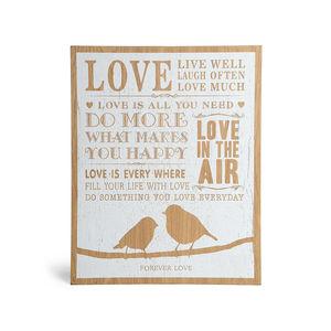 Bild Love, Holz, weiß, ca B:30 x L:38 cm