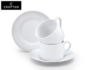 CROFTON® Tasse mit Untertasse, 2er-Set