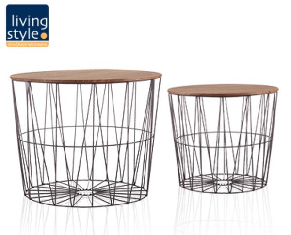 Living Style Design Drahtkörbe Mit Deckel 2er Set Von Aldi Süd
