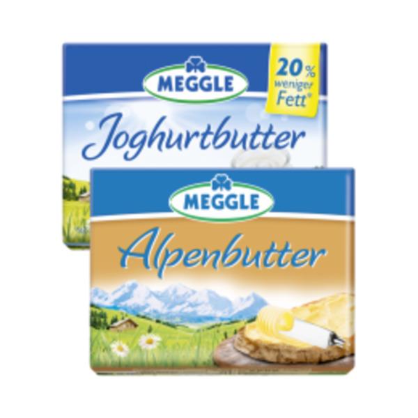 meggle alpenbutter joghurt butter oder alpenzart von hit. Black Bedroom Furniture Sets. Home Design Ideas