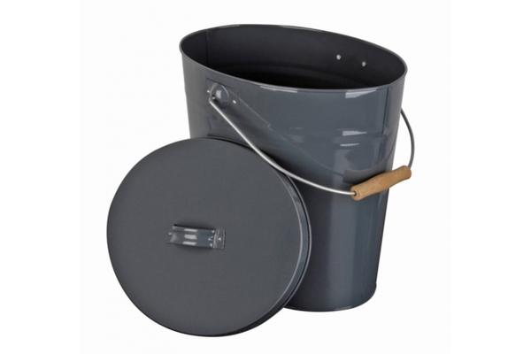 swissbrands gmbh ascheeimer mit deckel verzinkt 40 x 28 x. Black Bedroom Furniture Sets. Home Design Ideas