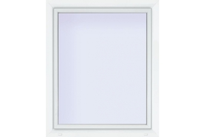 Euronorm Kunststoff-Fenster 70/3s weiss,  1000x1000mm DIN links, Uw 0,9w/M²K