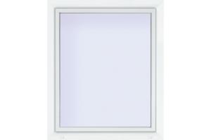 Euronorm Kunststoff-Fenster 70/3s weiss,  800x600mm DIN links, Uw 0,9w/M²K