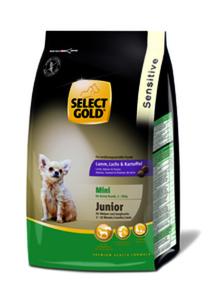 SELECT GOLD Sensitive Junior Mini Lamm, Lachs & Kartoffel