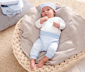 Baby-Geschenk-Set, hellblau-weiß