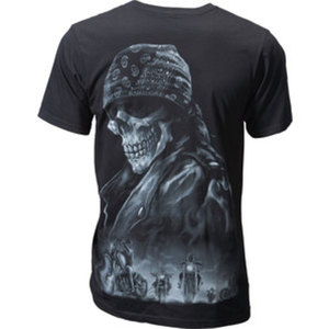 """LETHAL THREAT """"BIKER FROM HELL"""" T-SHIRT"""