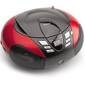 LENCO Radiorecorder SCD-37 MP3 rot
