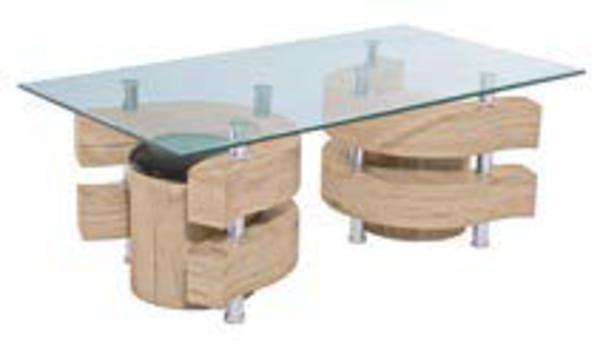 couchtisch san remo eiche dunkel nachb glasplatte von. Black Bedroom Furniture Sets. Home Design Ideas