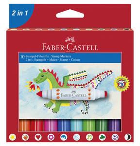 Faber-Castell   Stempel-Filzstifte 10-teilig Kartonetui 155170