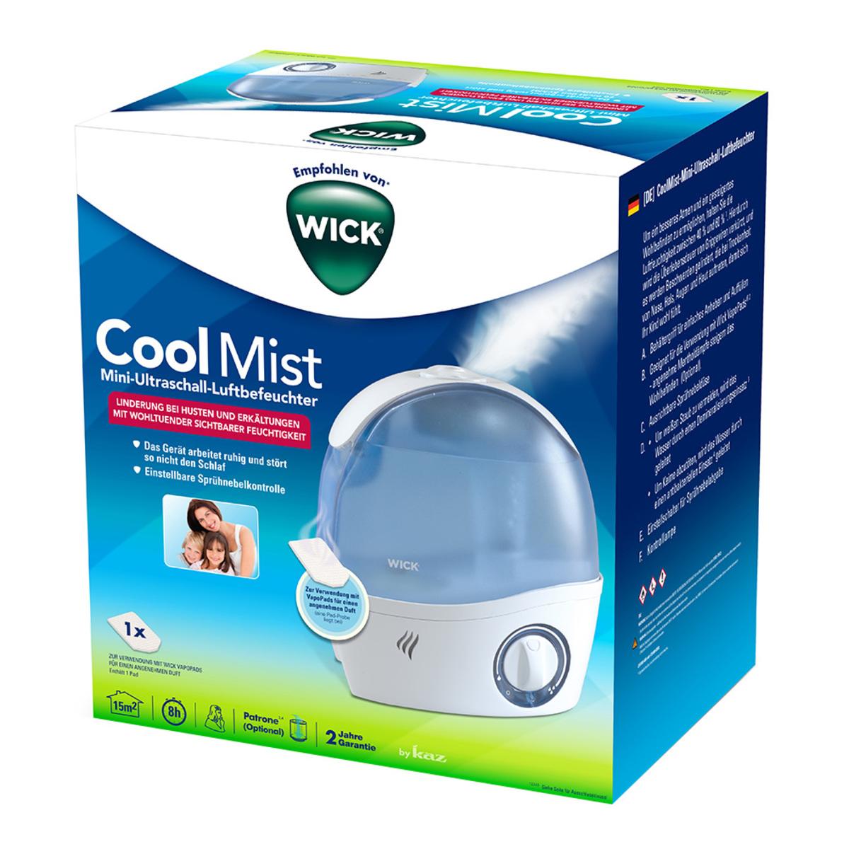 Bild 2 von Wick              CoolMist Mini-Ultraschall-Luftbefeuchter WH5000E4