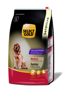 SELECT GOLD Sensitive Junior Medium Lamm, Lachs & Kartoffel