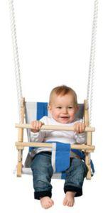 TWIPSOLINO Stoff-Babyschaukel blau/weiß gestreift