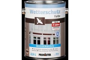 Primaster Wetterschutzfarbe 2,5 l, silbergrau
