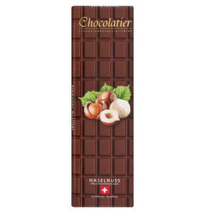 Chocolatier   Original Schweizer Schokolade Vollmilch mit Haselnüssen 300g
