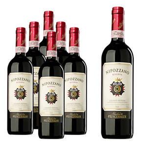 Nipozzano Riserva Chianti Rúfina DOCG Marchesi dé Frescobaldi rot 2012 6 Flaschen 0,75l plus eine Magnumflasche